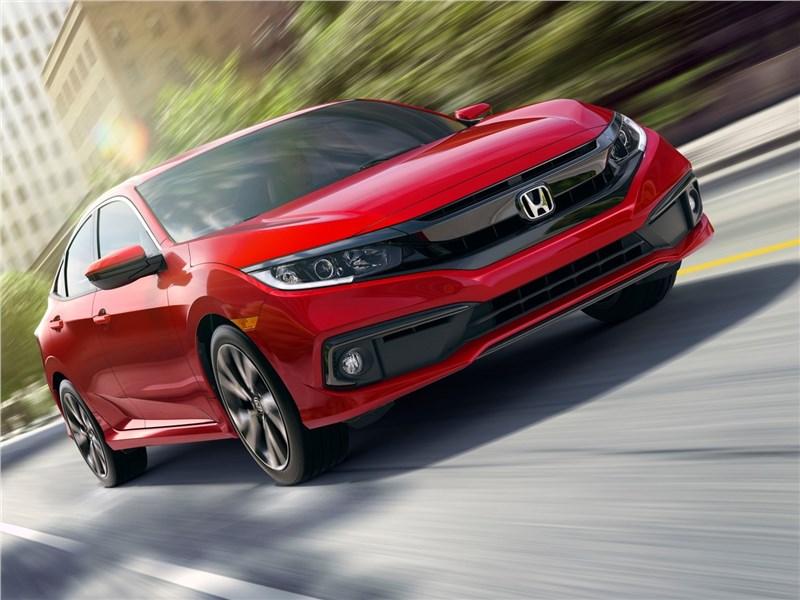 Honda Civic Sedan 2019 вид спереди