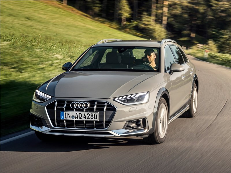 Audi A4 allroad quattro 2020 вид спереди