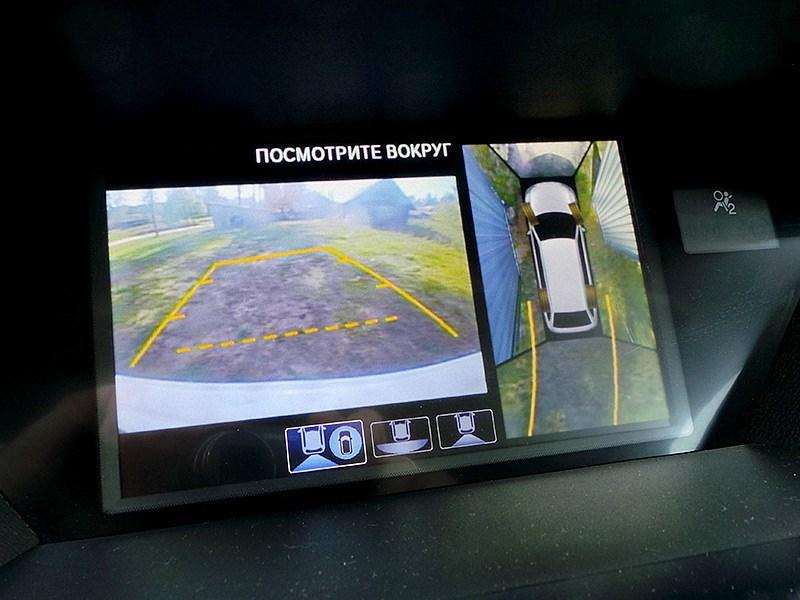 Acura MDX 2014 вид с камер наружного наблюдения