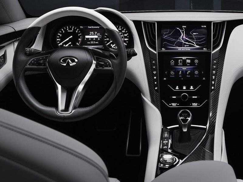 Infiniti Q60 concept 2015 водительское место
