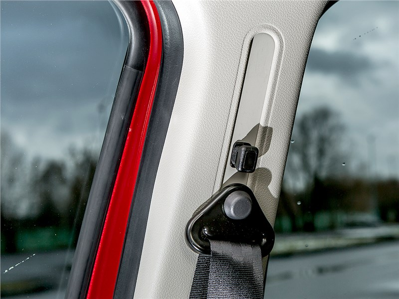 Renault Sandero 2013 крепление ремней безопасности