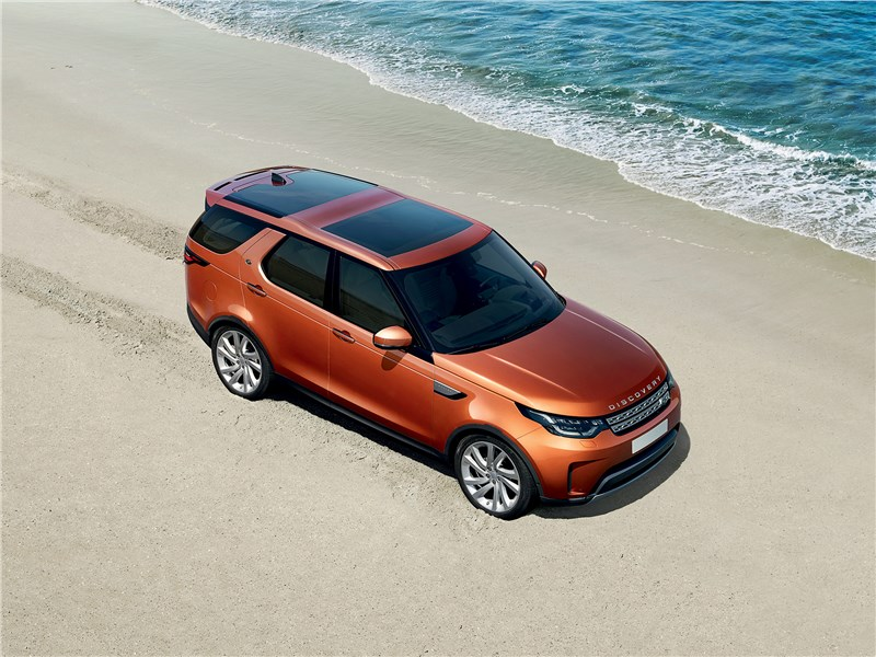 Land Rover Discovery 2017 вид сверху