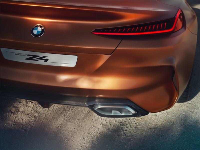 BMW Z4 Concept 2017 вид сзади