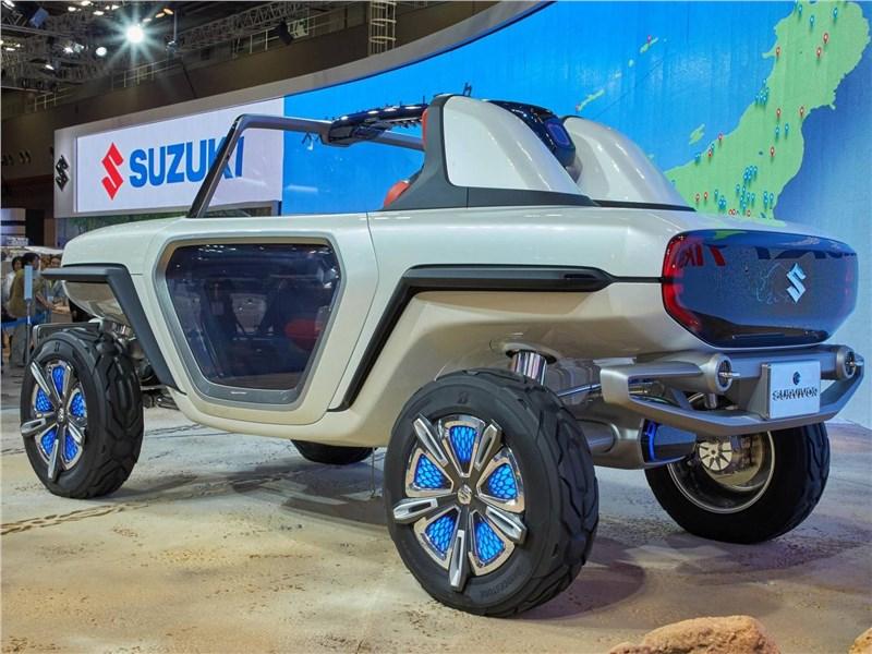 Suzuki e-Survivor concept 2017 вид сзади сбоку
