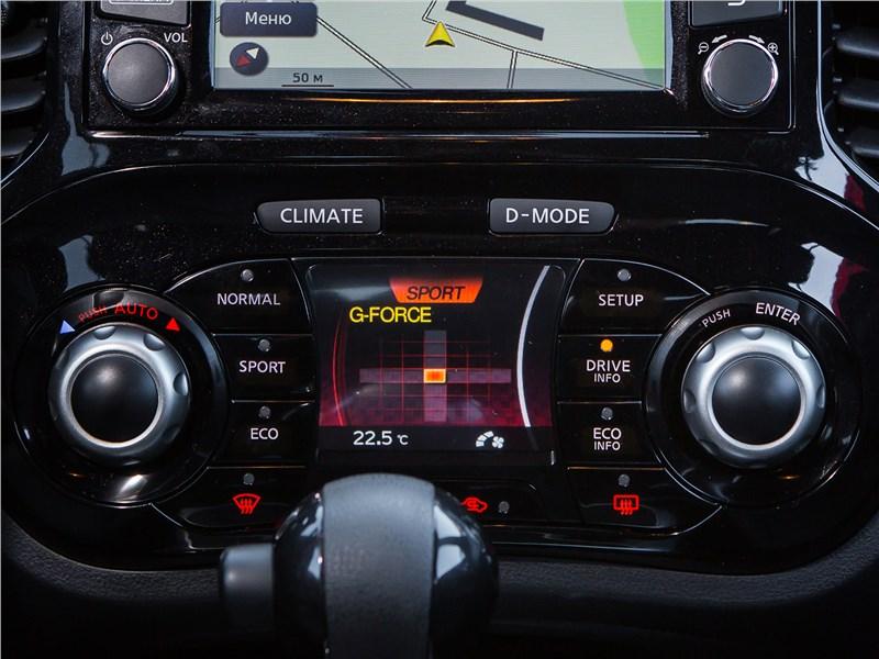 Nissan Juke 2017 управление режимами