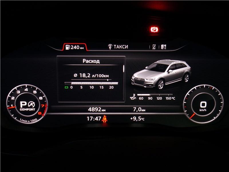 Audi A4 allroad quattro 2016 приборная панель