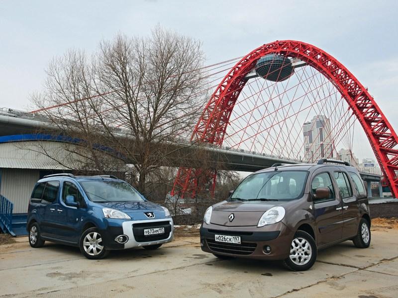Renault Kangoo, Peugeot Partner - сравнительный тест peugeot partner tepee и renault kangoo