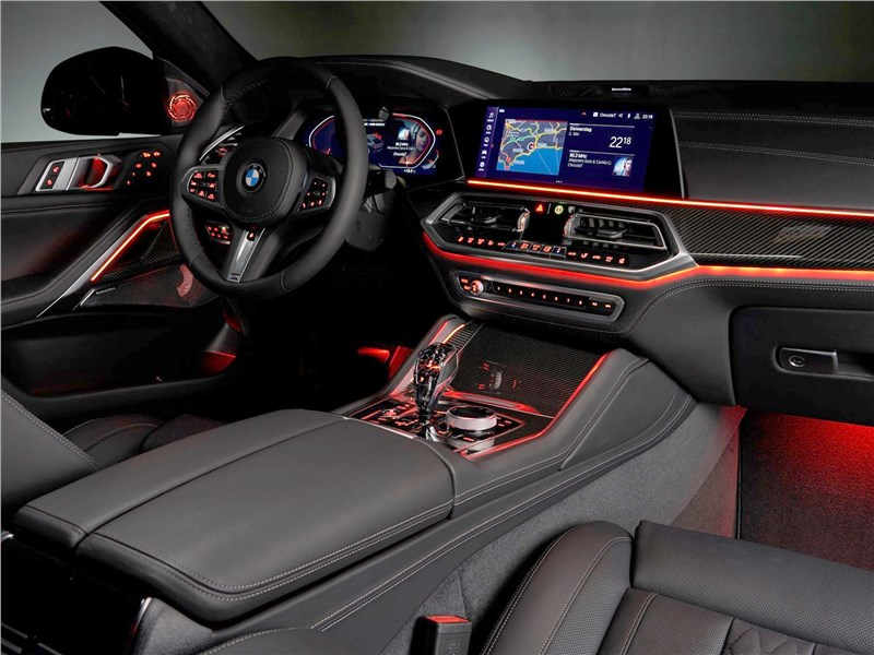 BMW X6 M50i 2020 подсветка салона