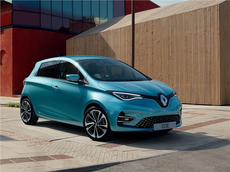 Renault Zoe 2020 вид спереди