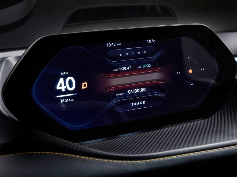 Lotus Evija 2020 приборная панель