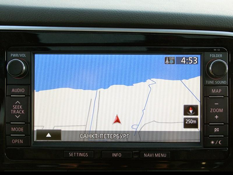 Mitsubishi Outlander 2013 дисплей мультимедийной системы