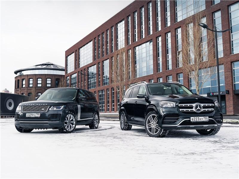 Mercedes-Benz GLS, Land Rover Range Rover - новейший mercedes-benz gls 2020 и умудренный опытом range rover 2018 в шоке от собственной крутости