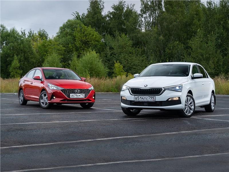 Skoda Rapid, Hyundai Solaris - сравнительный тест hyundai solaris (2020) и skoda rapid (2020) в стремлении изменить имидж