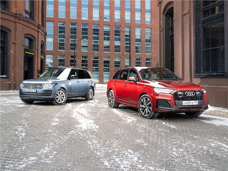 Audi Q7, Land Rover Range Rover - сравнительный тест range rover и audi q7: противоположные взгляды на понятие «самая крутая тачка»