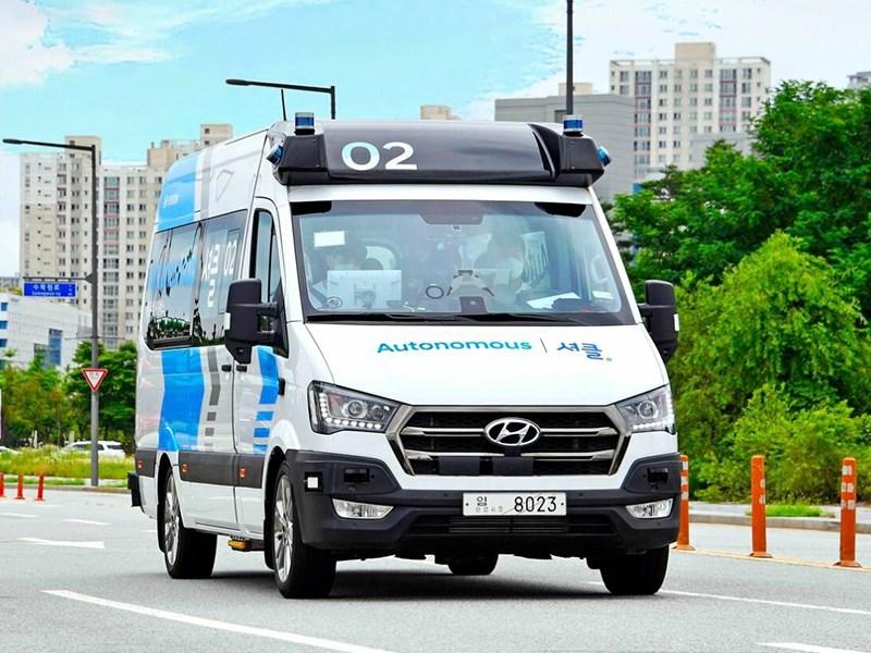 Hyundai запустит беспилотные маршрутки в Корее