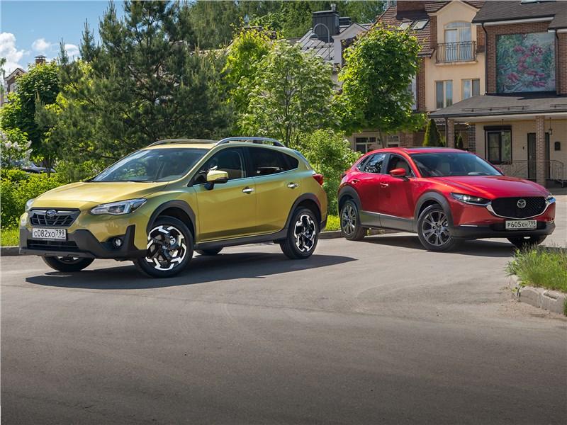 Mazda CX-30, Subaru XV - сравнительный тест subaru xv и mazda cx-30 презенты от барменов
