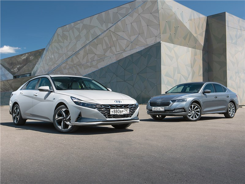 Hyundai Elantra, Skoda Octavia - сравнительный тест hyundai elantra и skoda octavia