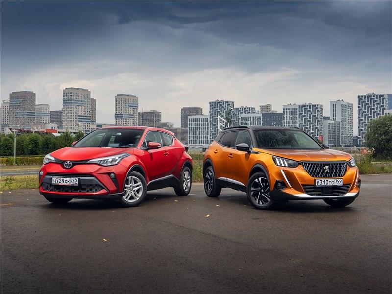 Toyota C-HR, Peugeot 2008 - сравнительный тест. из-за чего toyota c-hr и peugeot 2008 остались вне массового спроса