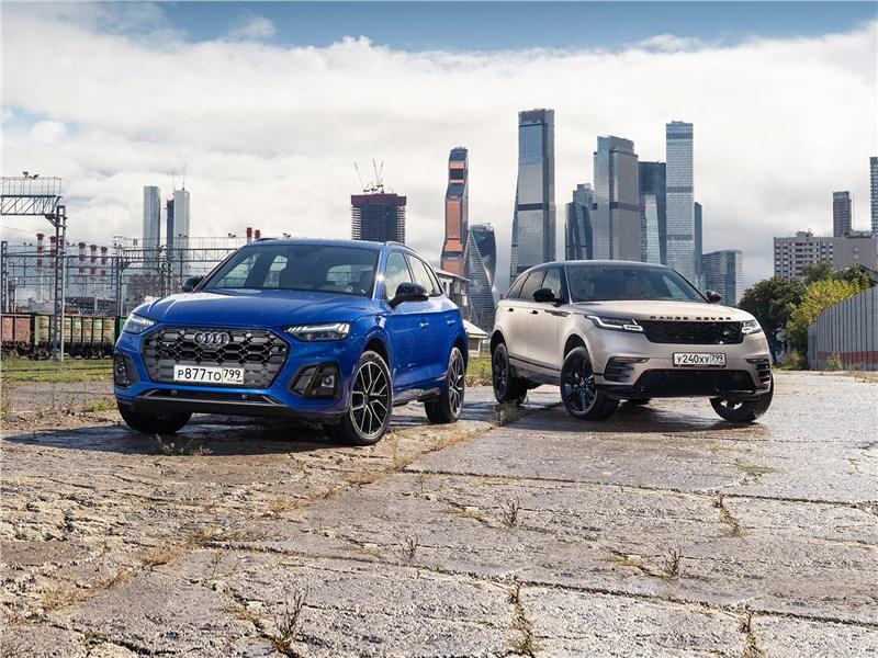 Land Rover Range Rover Velar, Audi Q5 - сравнительный тест. audi q5 и range rover velar – что в них общего кроме высокой цены?