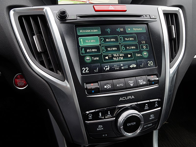 Acura TLX 2015 нижний экран