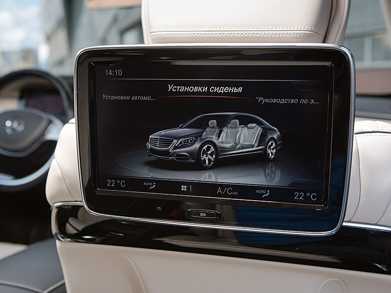 Mercedes-Maybach S 500 2015 монитор для пассажира