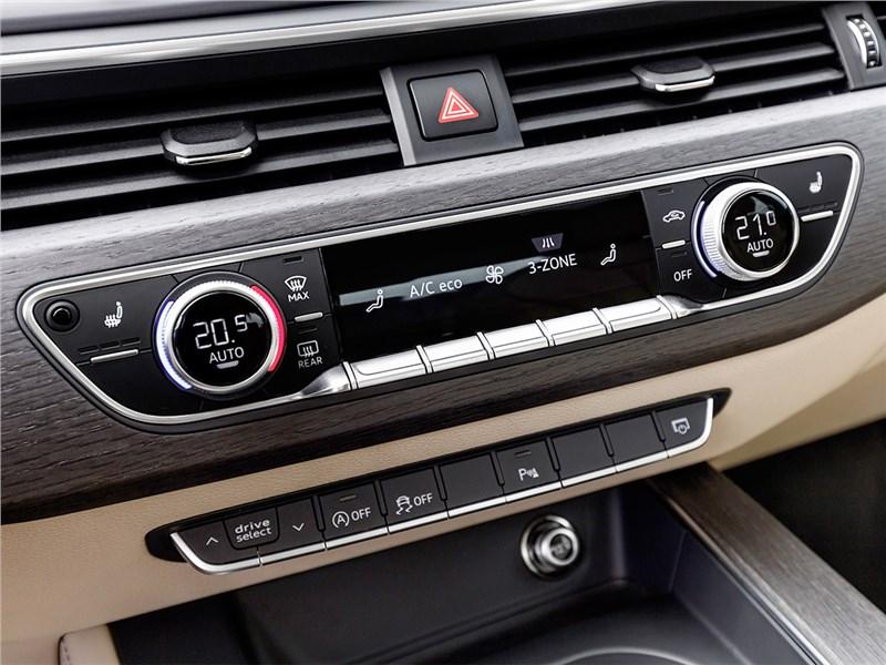 Audi A4 2016 управление климатом