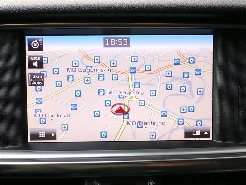 Kia Optima GT-Line 2016 экран мультимедиасистемы