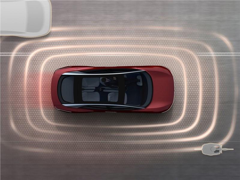 Volkswagen ID Vizzion Concept 2018 вид сверху