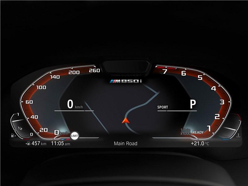 BMW 8-Series Coupe 2019 приборная панель