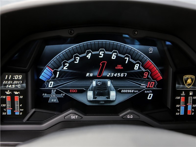 Lamborghini Aventador S 2017 кокпит
