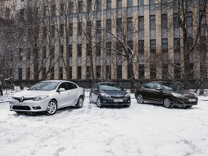 Citroen C4 sedan, KIA Cerato, Renault Fluence