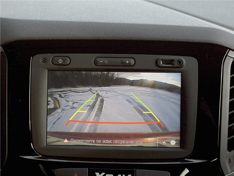 Lada XRay 2015 вид с камеры заднего вида
