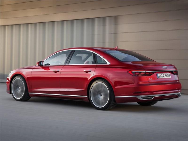 Audi A8 2018 вид сзади