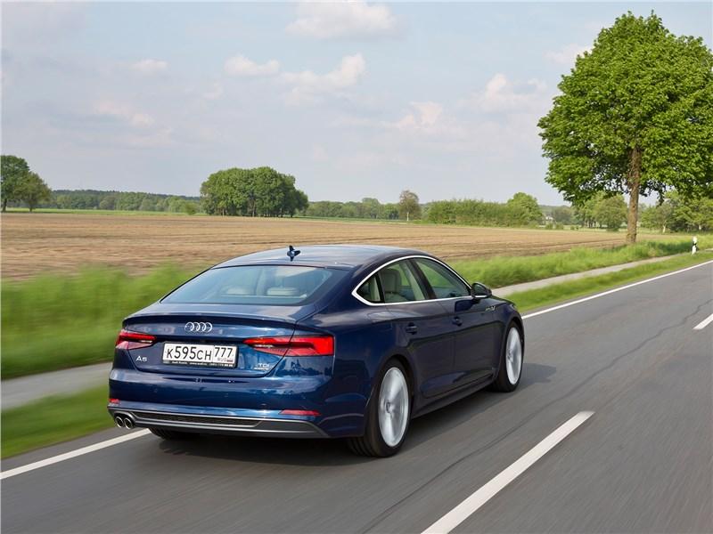 Audi A5 Sportback 2017 вид сзади