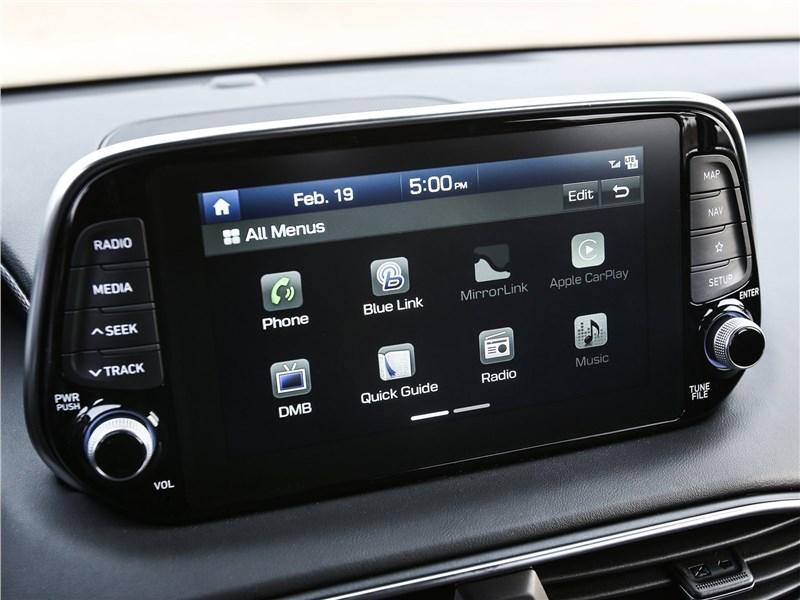 Hyundai Santa Fe 2019 центральная консоль