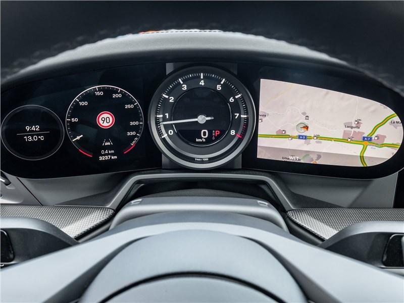 Porsche 911 Carrera 2019 приборная панель