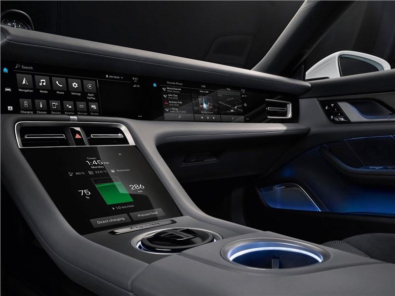 Porsche Taycan 2020 центральная консоль