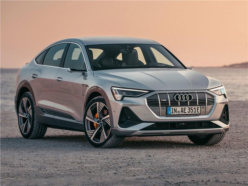 Audi e-tron Sportback 2021 вид спереди