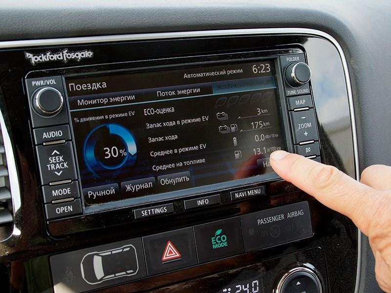 Mitsubishi Outlander PHEV 2014 монитор мультимедиасистемы