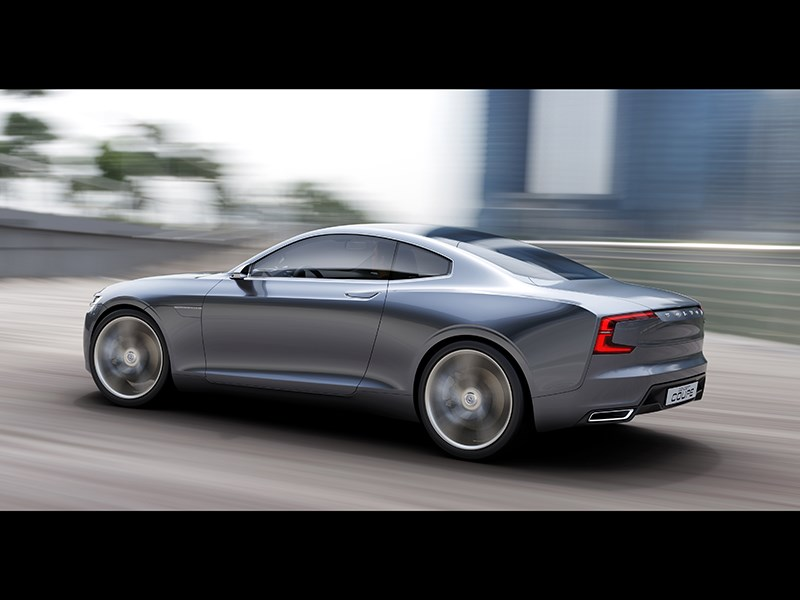 Volvo Coupe концепт 2013 вид сбоку фото 6