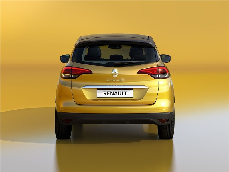 Renault Scenic 2017 вид сзади