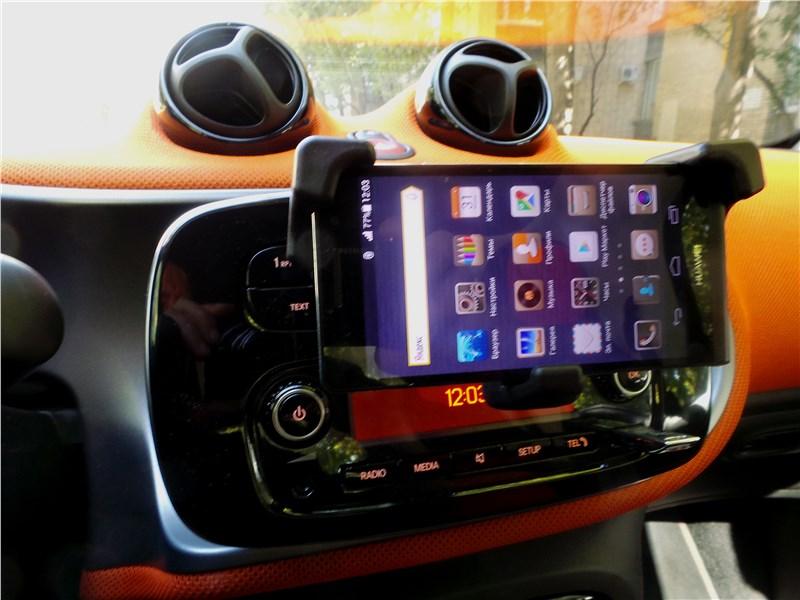 Smart Fortwo 2015 держатель смартфона