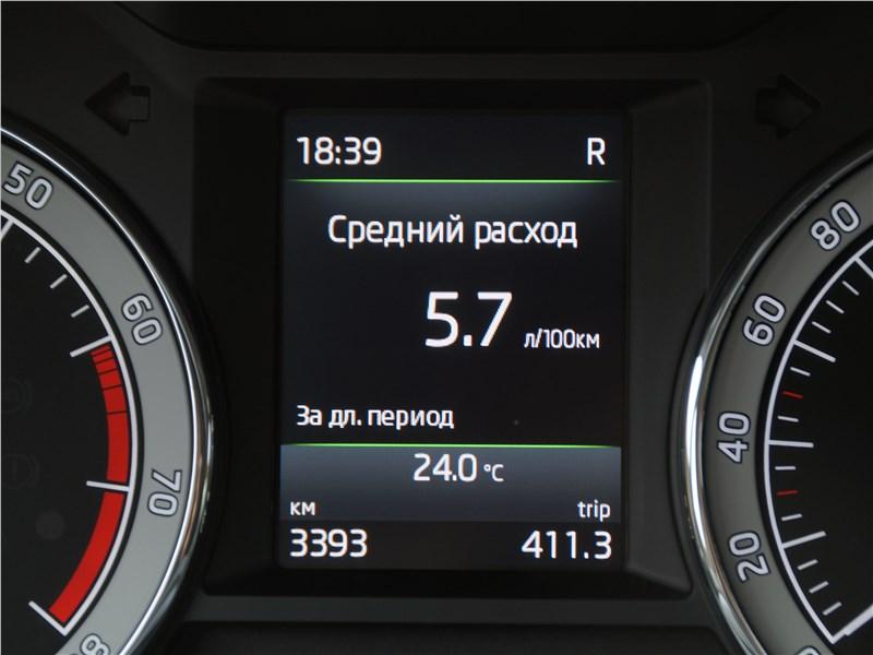 Skoda Octavia 2017 приборная панель