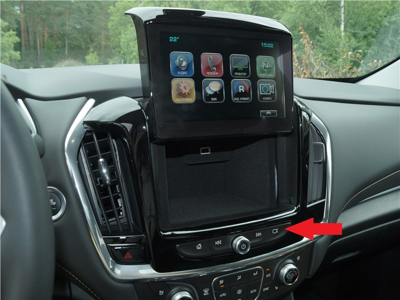 Chevrolet Traverse 2018 сенсорный экран