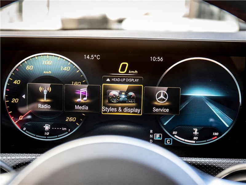 Mercedes-Benz CLA 2020 приборная панель