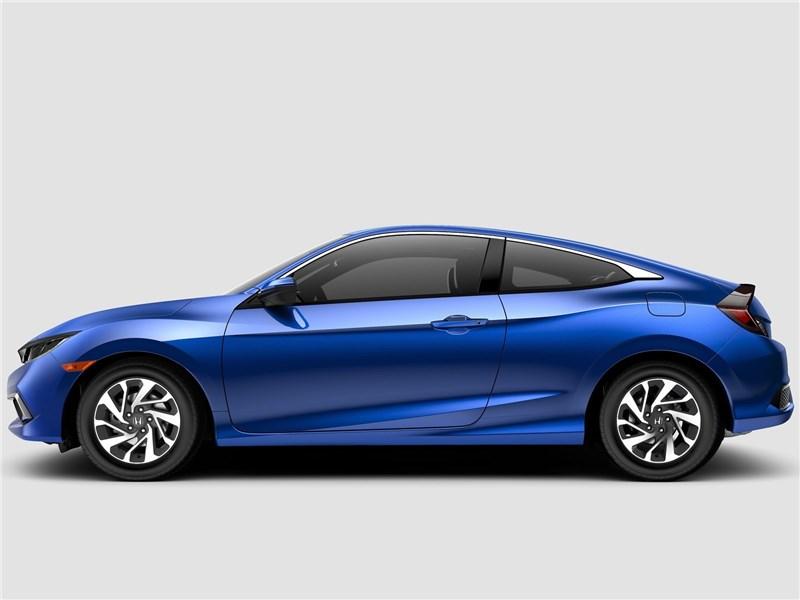 Honda Civic Coupe 2019 вид сбоку