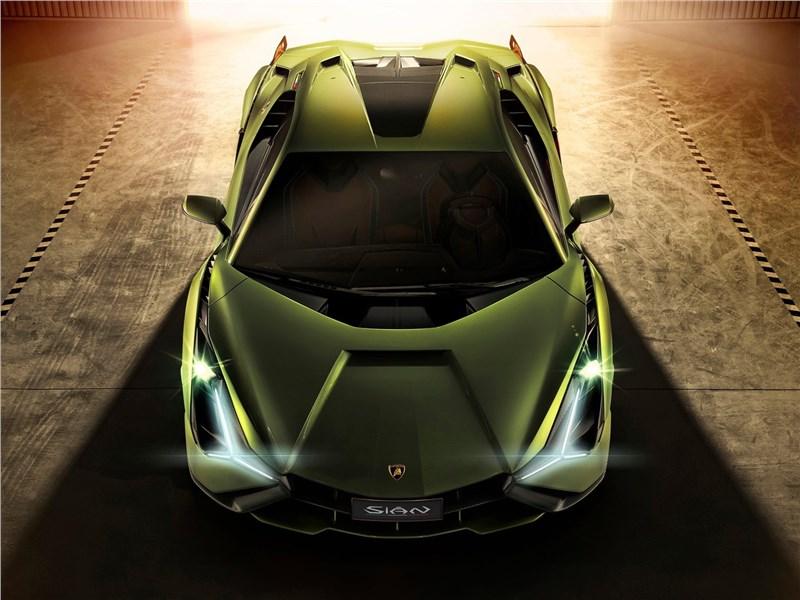 Lamborghini Sian 2020 вид спереди сверху