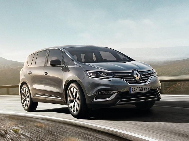 Renault Espace 2015 вид спереди