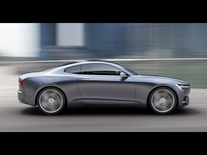 Volvo Coupe концепт 2013 вид сбоку фото 7