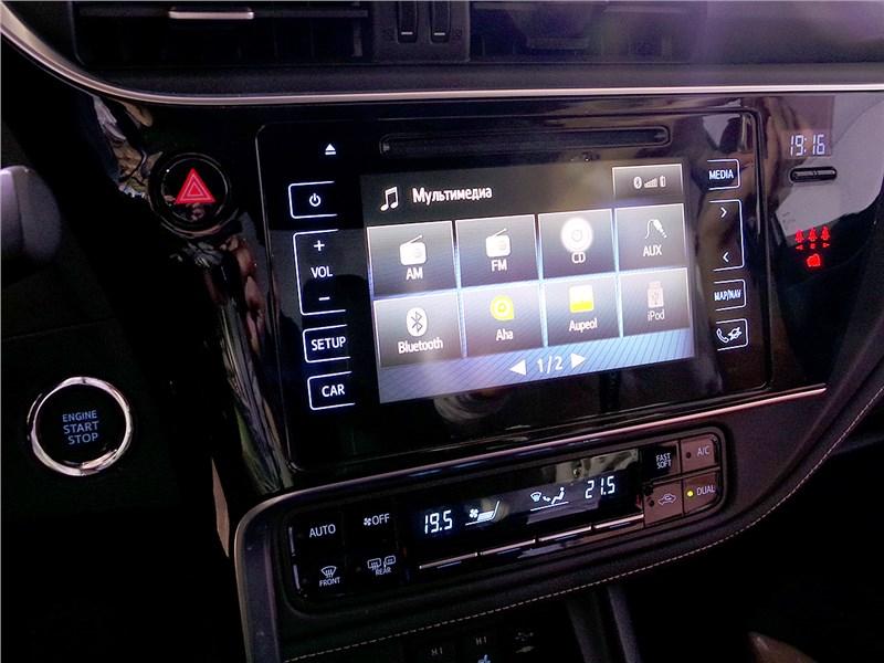 Toyota Corolla 2017 центральная консоль